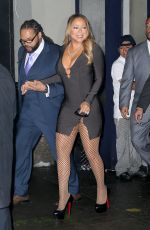 MARIAH CAREY in Tight Dress Out in New York 12/18/2016