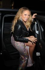 MARIAH CAREY Night Out in New York 12/01/2016