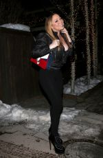 MARIAH CAREY Out for Dinner in Aspen 12/21/2016