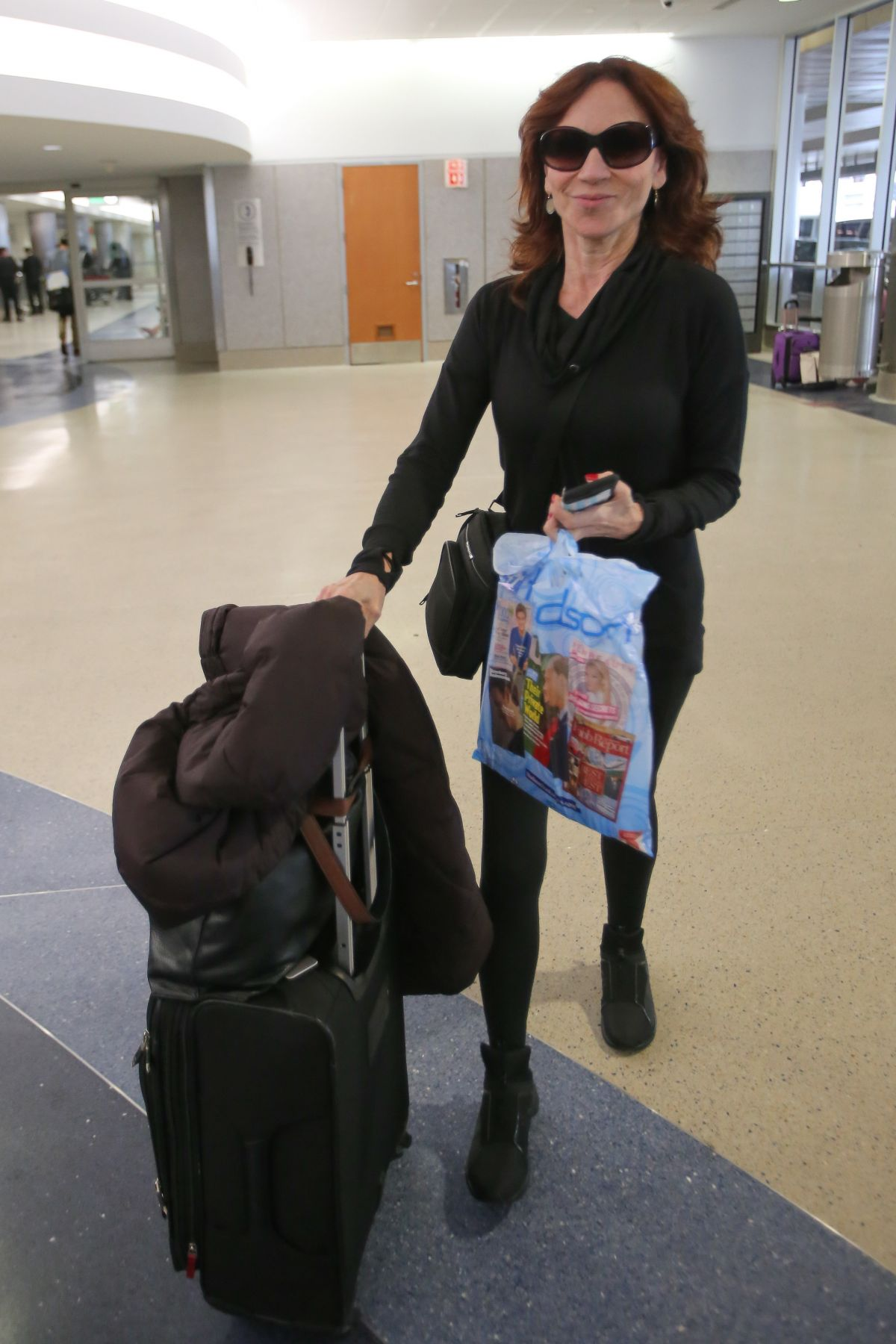 MARILU HENNER at Los Angeles International Airport 12/15/2016