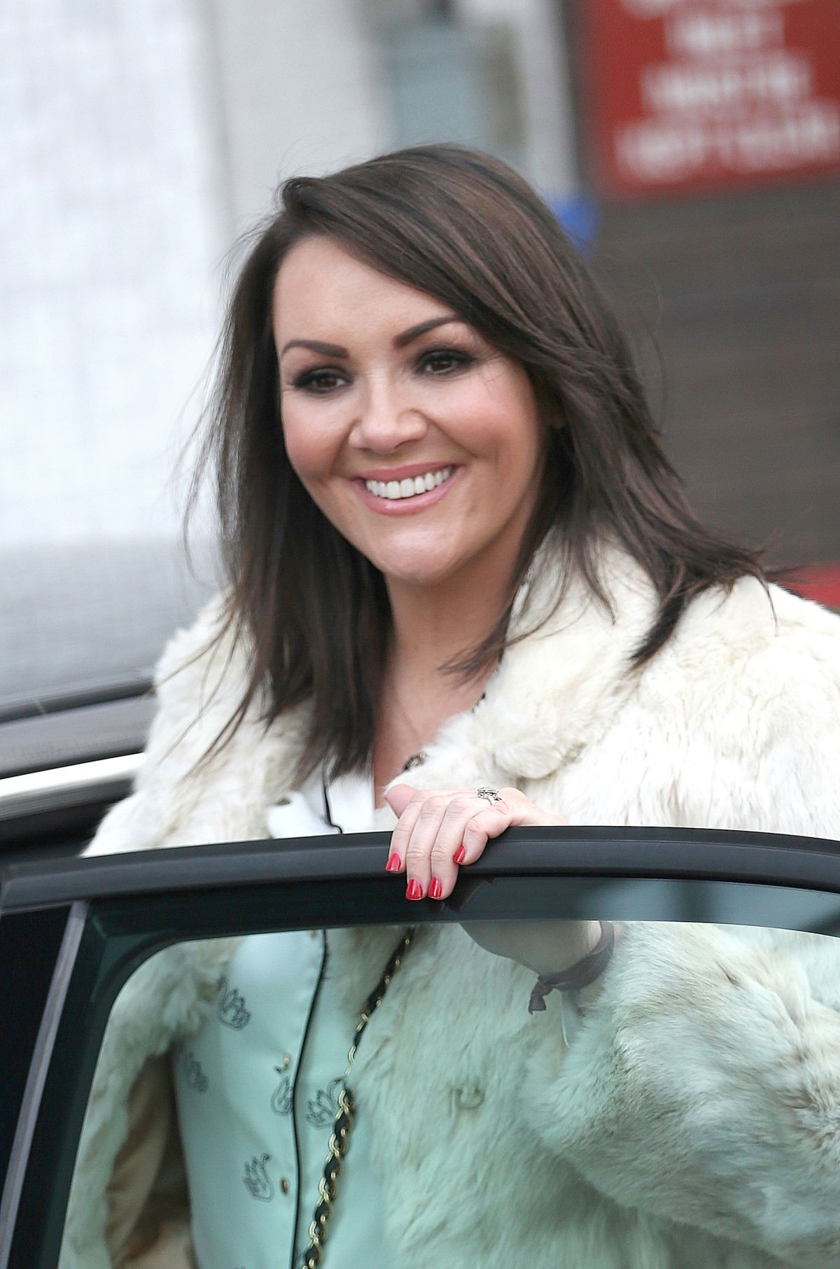 MARTINE MCCUTCHEON Leaves ITV Studios in London 12/22/2016