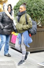 MELANIE BROWN Heading to a Gym in New York 12/16/2016