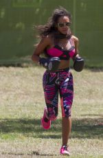 MELANIE BROWN Working Out at a Park in Sydney 12/17/2016