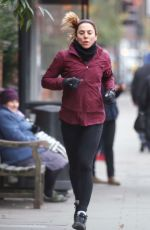 MELEANIE CHISHOLM Out for a Morning Run in London 12/18/2016