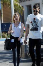 MENA SUVARI and Boyfriend Michael Hope Leaves Trader Joe