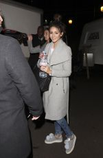 MICHELLE KEEGAN Leaves a Recording Studio in London 12/15/2016