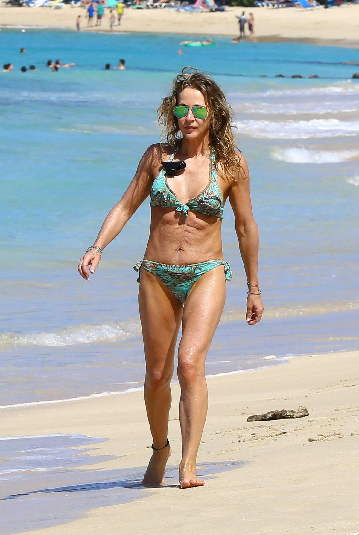 MICHELLE LINEKER in Bikini on the Beach in Barbados 12/28/2016