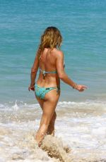 MICHELLE LINEKER in Bikini on the Beach in Barbados 12/28/2016