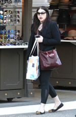 MICHELLE TRACHTENBERG Out Shopping at The Grove in Los Angeles 11/30/2016