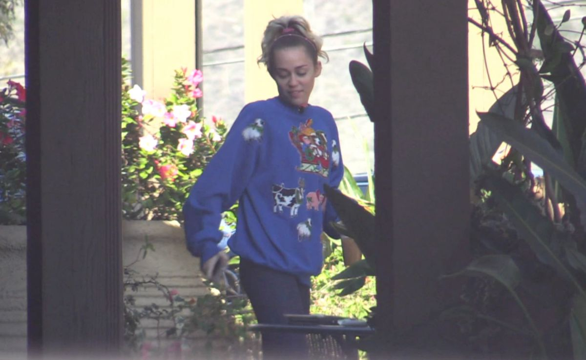 MILEY CYRUS and Liam Hemsworth Out for Lunch in Malibu 12/07/2016