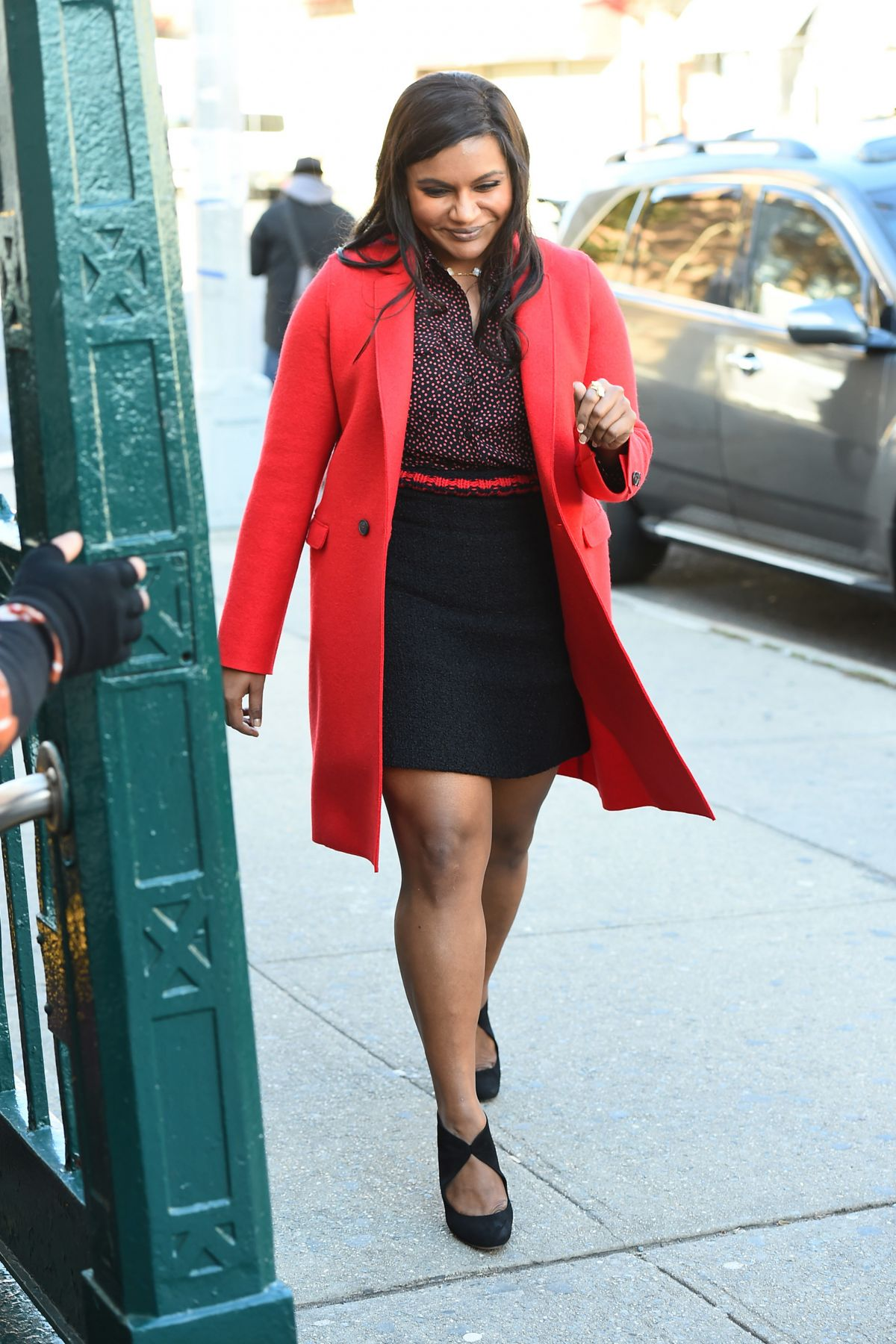 MINDY KALING on the Set of