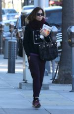 MINNIE DRIVER Out and About in Los Angeles 12/22/2016