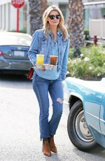 MISCHA BARTON in Jeans Out and About in West Hollywood 08/12/2016