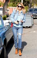 MISCHA BARTON in Jeans Out in Beverly Hills 12/08/2016