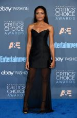 NAOMIE HARRIS at 22nd Annual Critics' Choice Awards in Santa Monica 12/11/2016