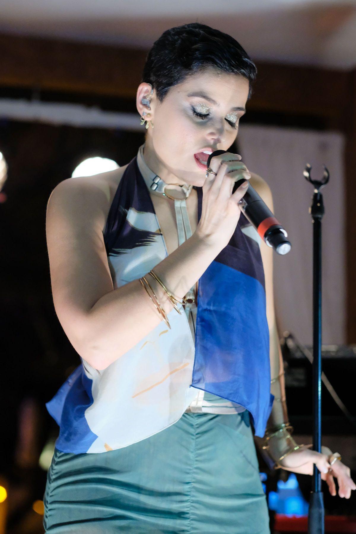NELLY FURTADO Performs at Alex Katz x HM Art Basel Party in Miami 11/30/2016