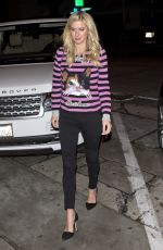 NICKY HILTON Out for Dinner in West Hollywood 12/22/2016