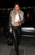 NICOLE MURPHY in Leather Pants at Delilah Club in West Hollywood 12/18/2016