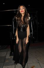 NICOLE SCHERZINGER at Tape Nightclub in London 12/12/2016