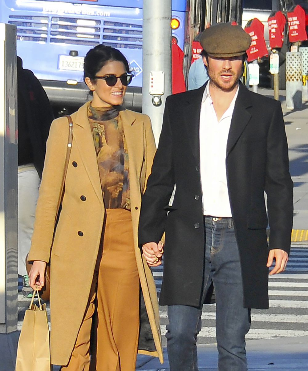 NIKKI REED and Ian Somerhalder Out for Shopping in Santa Monica 12/28/2016