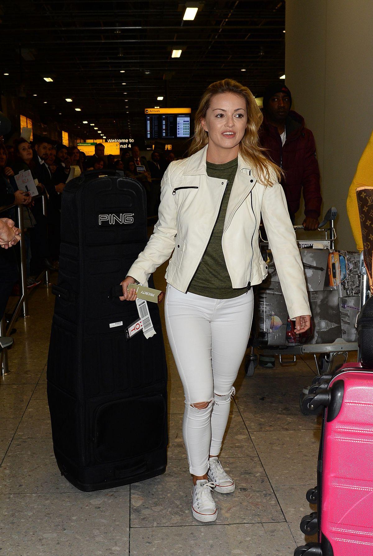 OLA JORDAN at Heathrow Airport in London 12/07/2016