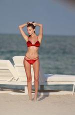 OLESYA SENCHENKO in Bikini on the Beach in Miami 12/21/2016
