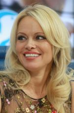 PAMELA ANDERSON at Press Conference to Promote Ifaw in Moscow 12/16/2016