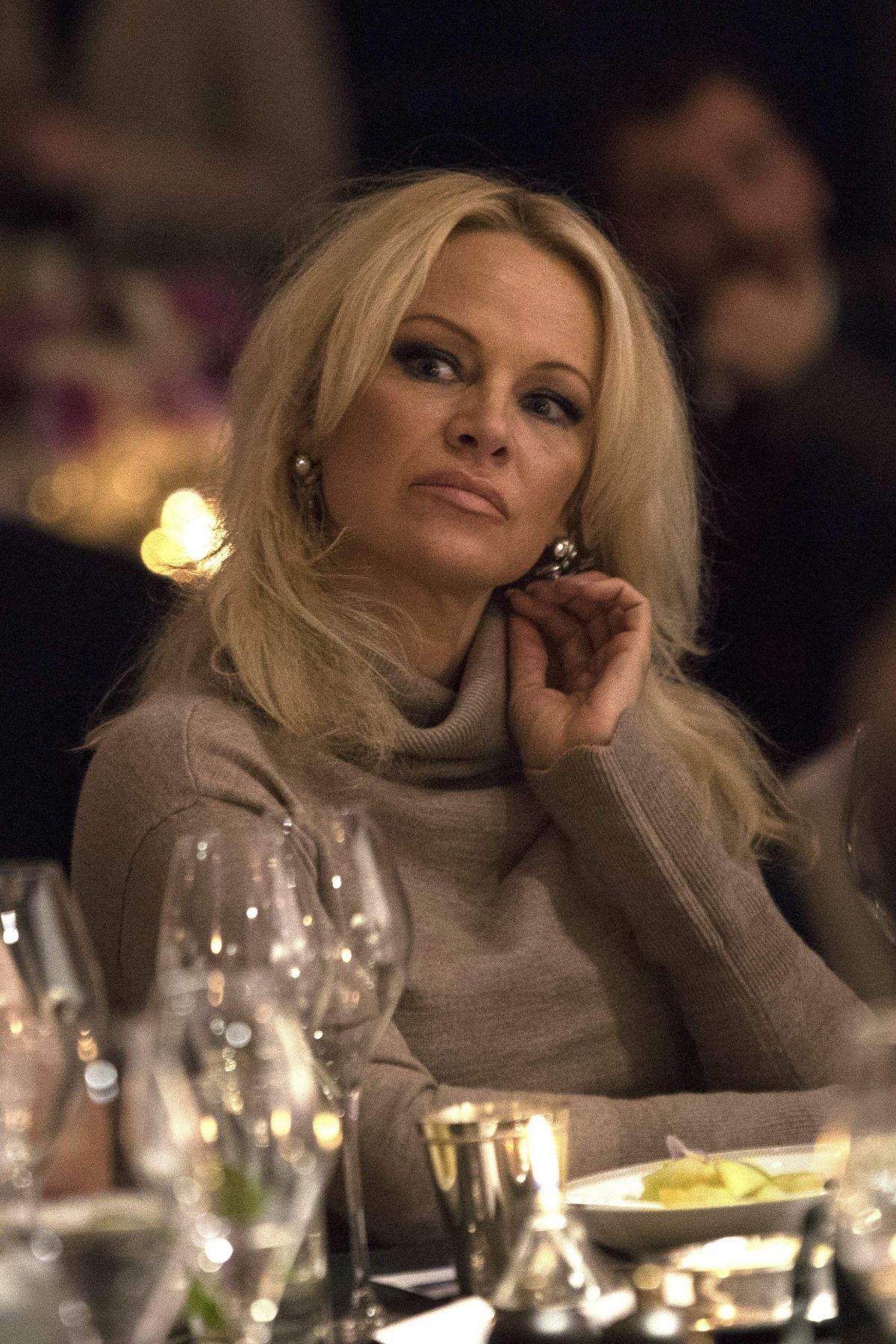 PAMELA ANDERSON at Winq Men of the Year Lunch at Rosewood Hotel in London 12/07/2016