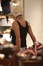 PARIS HILTON Out Shopping in Aspen 12/27/2016