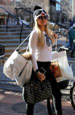 PARIS HILTON Shopping at Gorsurch Ltd. in Aspen 12/26/2016