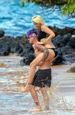 PARIS JACKSON in Bikini at a Beach in Maui 12/21/2016