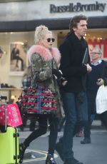 POPPY DELEVINGNE Out for Shopping on Bond Street in London 12/22/2016