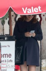 Pregnant NATALIE PORTMAN Out for Lunch in Los Feliz 12/15/2016
