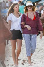 RACHEL HILBERT at a Beach in Mexico 12/29/2016