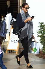 RHONA MITRA Out for Shopping in Los Angeles 12/13/2016