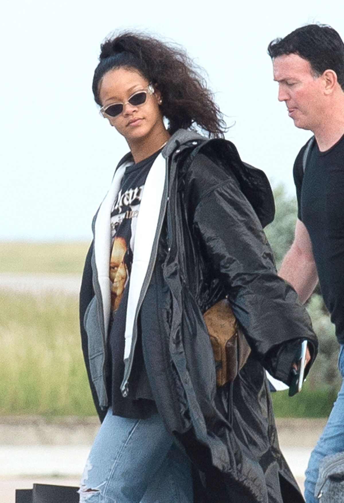 RIHANNA Landing in Barbados on a Private Jet from Los Angeles 12/23/2016