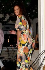RIHANNA Out for Dinner in Barbados 12/27/2016