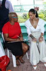 RIHANNA Taking a HIV Test in Bridgetown 12/01/2016