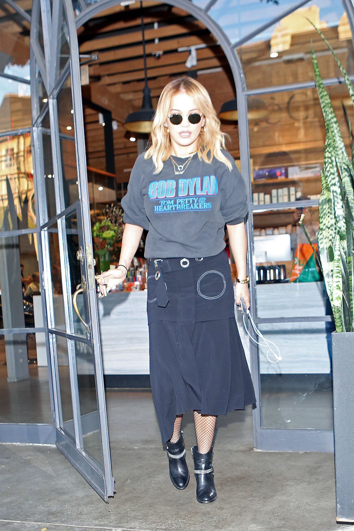 RITA ORA Leaves Meche Salon in Los Angeles 12/01/2016