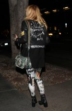 ROSANNA ARQUETTE Leaves Madeo Restaurant in West Hollywood 12/13/2016