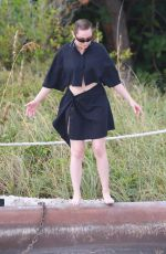ROSE MCGOWAN on the Set of a Photoshoot in Miami 12/05/2016