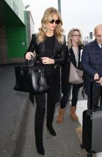 ROSIE HUNTINGTON-WHITELEY at Airport in Milan 12/14/2016