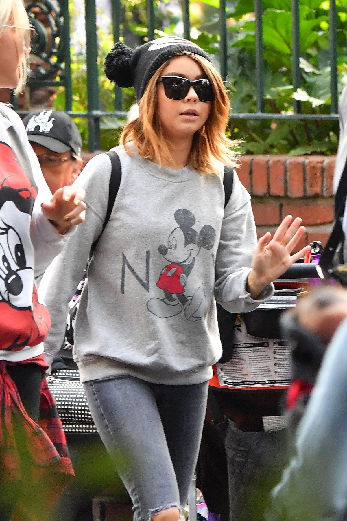SARAH HYLAND Out at Disneyland in California 12/27/2016