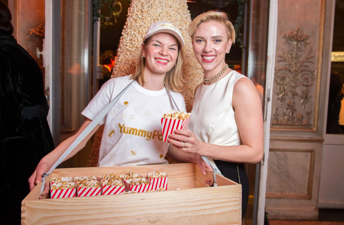 SCARLETT JOHANSSON at Yummy Pop Grand Opening Party in Paris 12/16/2016