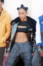 SERAYAH MCNEILL on the Set of Her New Music Video in West Hollywood 12/18/2016