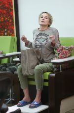 SHARON STONE at a Salon in Beverly Hills 12/06/2016