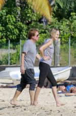 SHARON STONE Out and About in Saint Barthelemy 12/01/2016