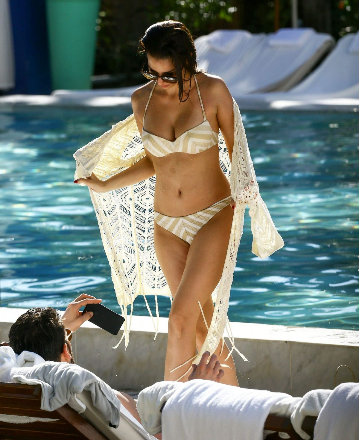SILA SAHIN in Bikini at a Pool in Miami 12/29/2016