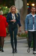 SOPHIE TURNER and Joe Jonas Out in Beverly Hills 11/29/2016