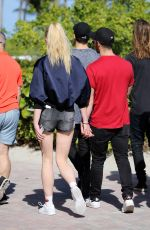 SOPHIE TURNER and Joe Jonas Out in Miami 12/30/2016